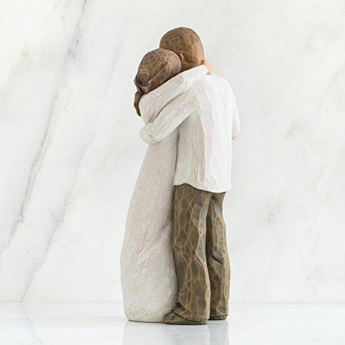 figura esculpida pintada a mano del árbol de sauce, promise