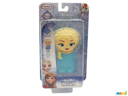 figura frozen elsa incluye sello y crayón