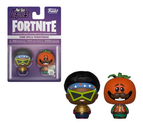 figura funko pint size heroes fortnite - ops & tomatohead