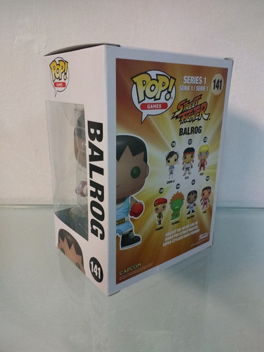 figura funko pop! balrog #141 street fighter 10 cm
