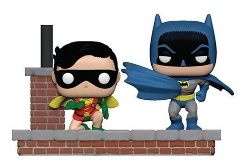 figura funko pop, batman y robin 1972 - comic moment - 281