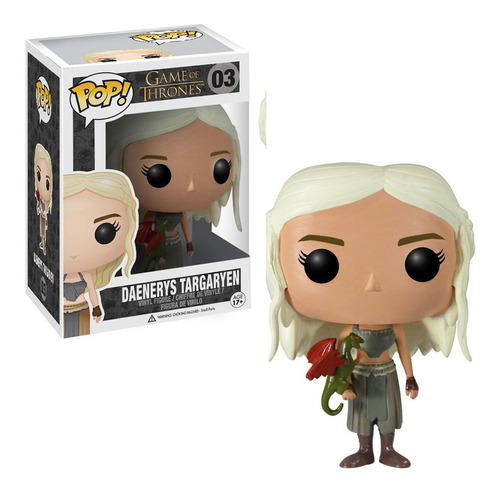 figura funko pop games of thrones - daenerys con dragon 03
