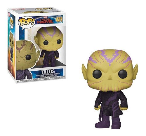 figura funko pop marvel capitana marvel - talos 431