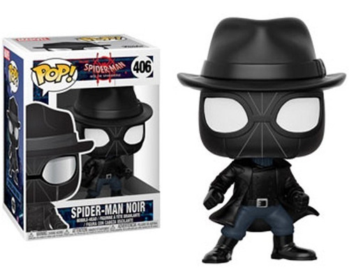 figura funko pop marvel, spider-man noir-406