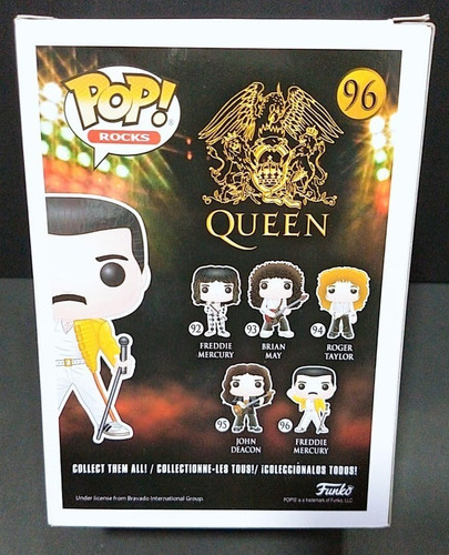 figura funko pop rocks - freddie mercury - nº 96 - original