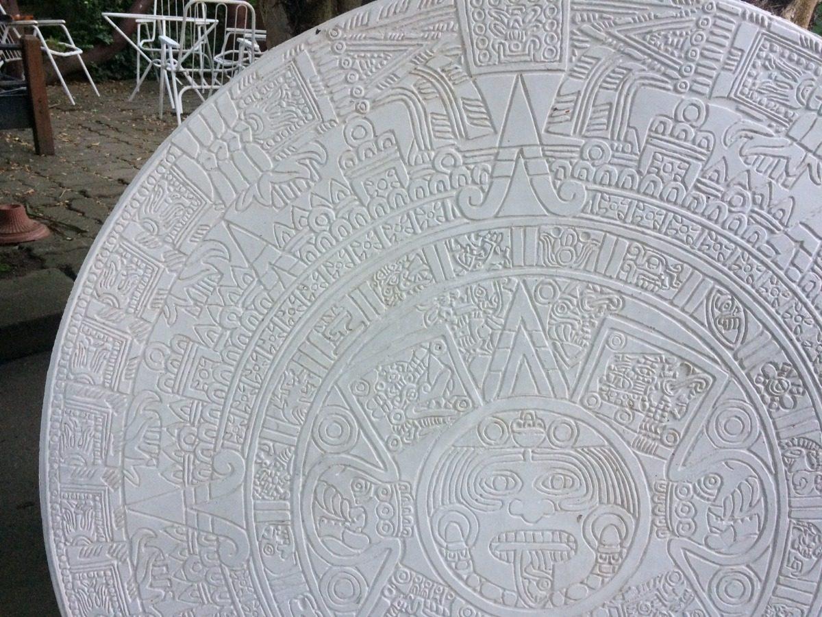 Asombroso Colorear Calendario Azteca Bandera - Enmarcado Para ...