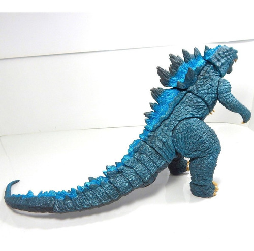 figura godzilla kaiju gojira azul monstruo con sonido 25cm