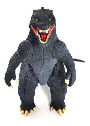 figura godzilla negro gojira monstruo juguete sonido 25cm