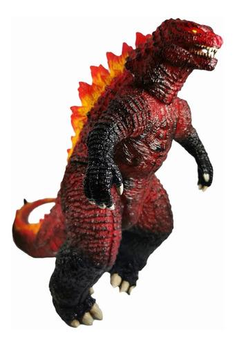 figura godzilla rojo fuego kaiju gojira monstruo sonido 25cm