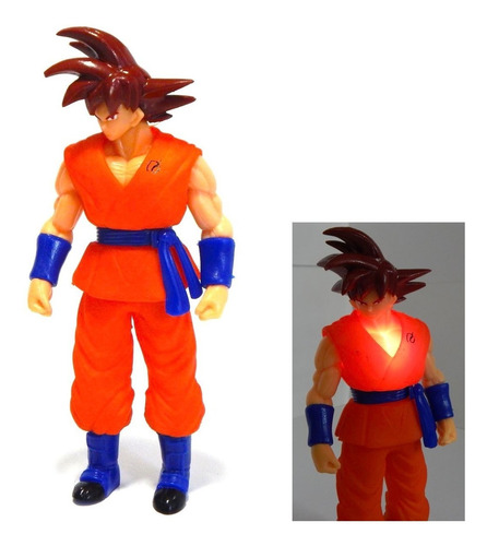 figura goku dragon ball super sayayin dios red luz led 25cm