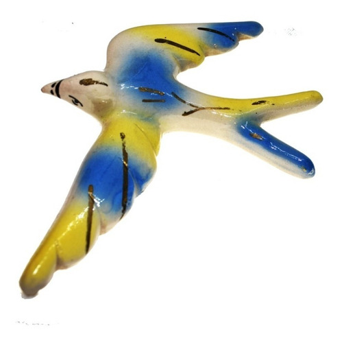 figura golondrina usada ave pajaro ceramica 14x18 escultura