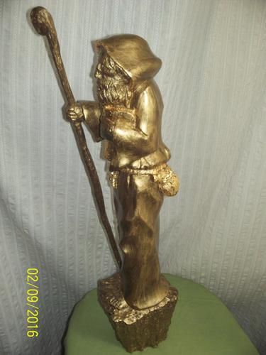 figura hombre monje c/baculo 70 cm alto loligo