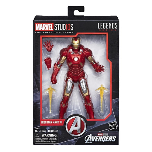 figura iron man mark vii marvel 10th anniversary
