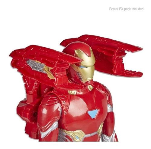 figura iron man marvel infinity war power fx sonidos y frase