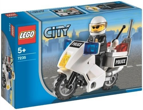 figura lego city police motorcycle 7235