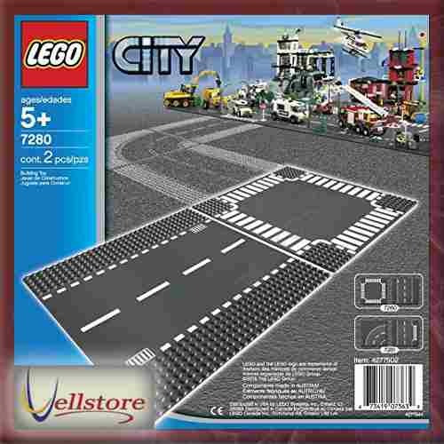 figura lego city town straight and crossroad plate 7280 kit
