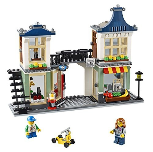 figura lego creator toy and grocery shop