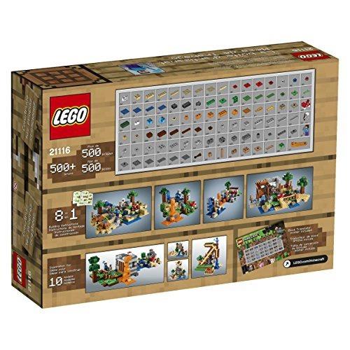 figura lego minecraft 21116 crafting box