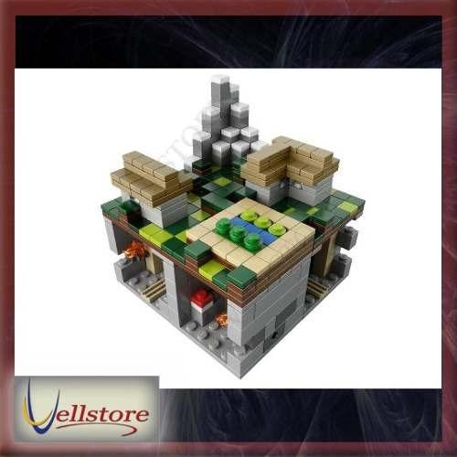 figura lego minecraft micro world the village 21105