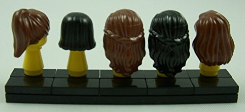 figura lego minifig hair pack of 5 female piezas