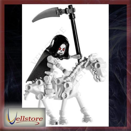 figura lego skeleton reaper with skeleton horse loose castle