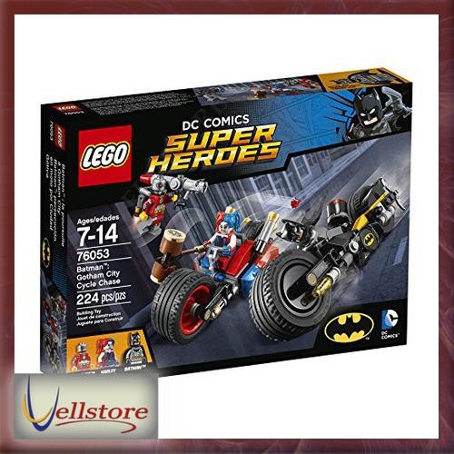 figura lego super heroes baan gotham city cycle 76053