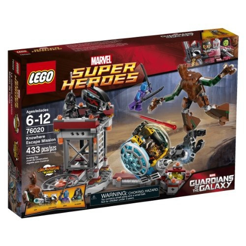 figura lego superheroes 76020 knowhere escape mission set