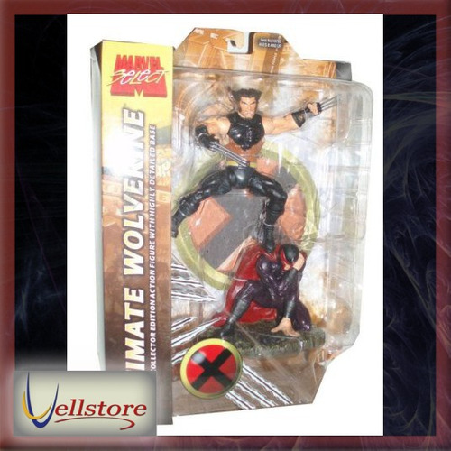 figura marvel select variant ultimate wolverine con magneto