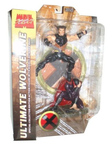 figura marvel select variant ultimate wolverine con magneto