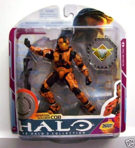 figura mcfarlane halo 3 series spartan soldier cqb orange