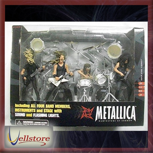 figura mcfarlane metallica harvesters of sorrow super stage