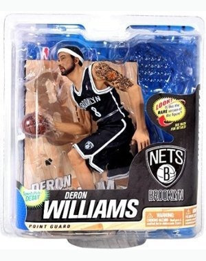 figura mcfarlane nba deron williams brooklyn nets black