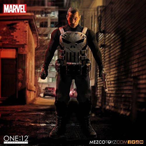 figura mezco one 12 collective: marvel the punisher deluxe
