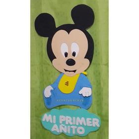 Figura Mickey Bebe Mi Primer Añito  En Goma Eva