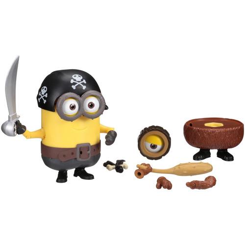figura minion pirata & hombre de cuevas 2 en 1 para combinar