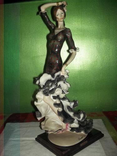 figura mujer flamenca española bailarina 55 cm loligo