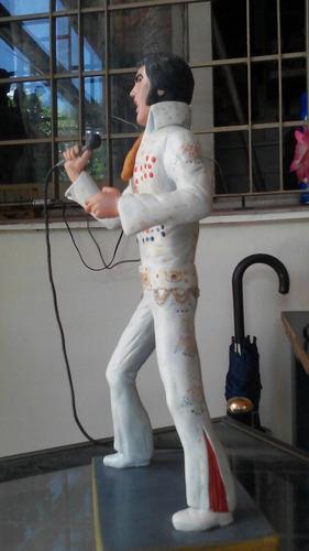 figura muñeco elvis presley en masilla epoxi artesanal