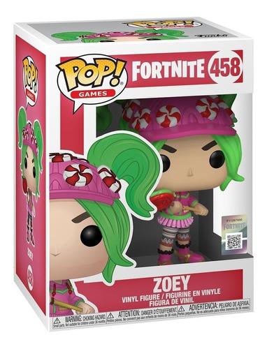 figura muñeco funko pop fortnite zoey 458
