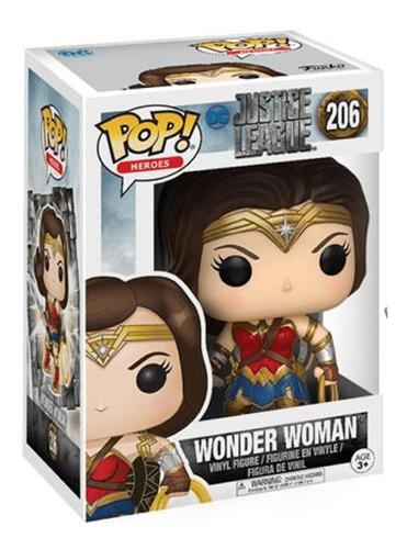 figura muñeco funko pop liga de la justicia mujer maravilla