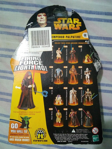 figura muñeco star wars darth sidius kenner vintage original
