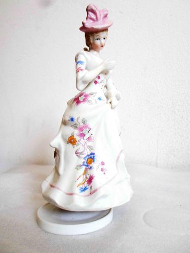 figura musical porcelana esmaltada giratoria 20 cm