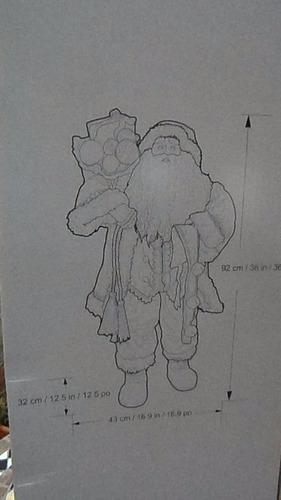 figura navideña de santa de 92 cms de alto