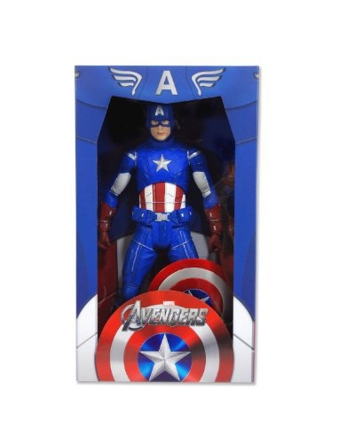 figura neca avengers captain america 18 scale 1 4