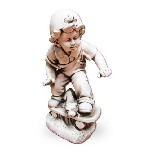 figura niño con patineta