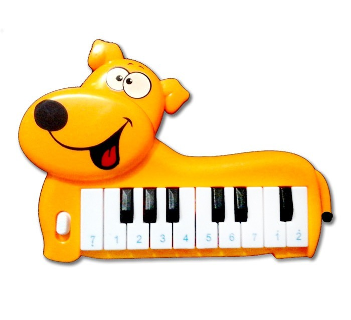 Para Dog Piano Juguete Figura Teclado Orange Musical Niños hdtsQCr