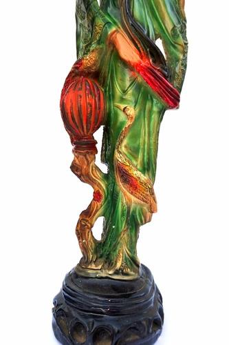 figura oriental en yeso pintada a mano art 1256