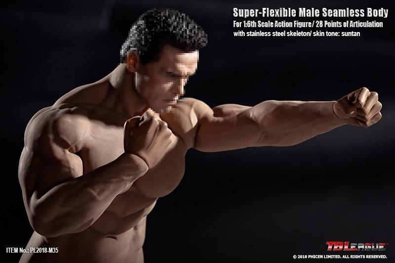 TBLeague PL2018-M35 Super Flexible Male Suntan Skin Seamless Muscular Body NEW