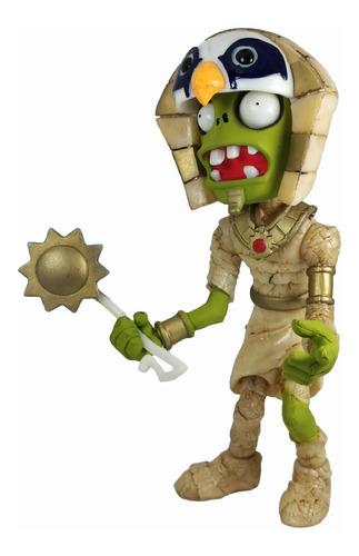 figura plantas vs zombies juguete zombie faraon luz 25cm