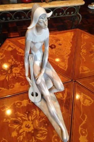 figura porcelana nao lladró triste arlequín 100 vds (leer)