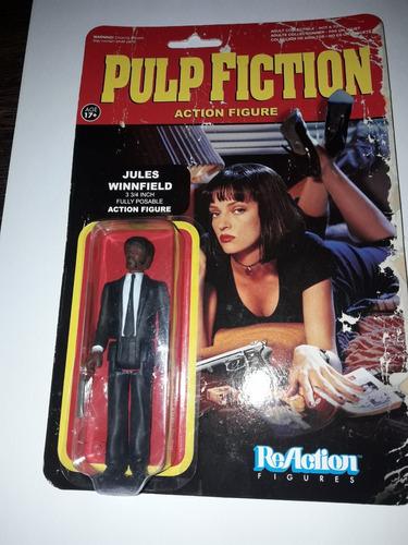 figura pulp fiction jules winnfield funko 3,75  reaction